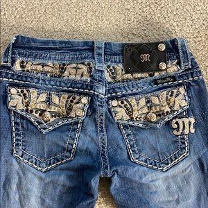 💕Miss me jeans boot sz 25 x 33 je8032bl 💕